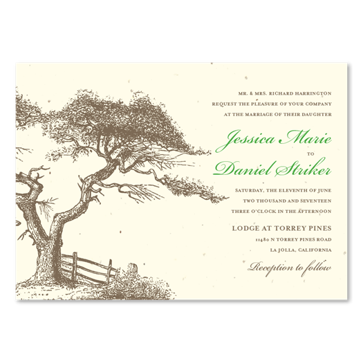 Torrey Pines Wedding Invitations | San Diego weddings