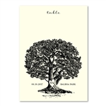 Oak Tree Table Cards | Vieux Oak classic on premium cream ecru paper