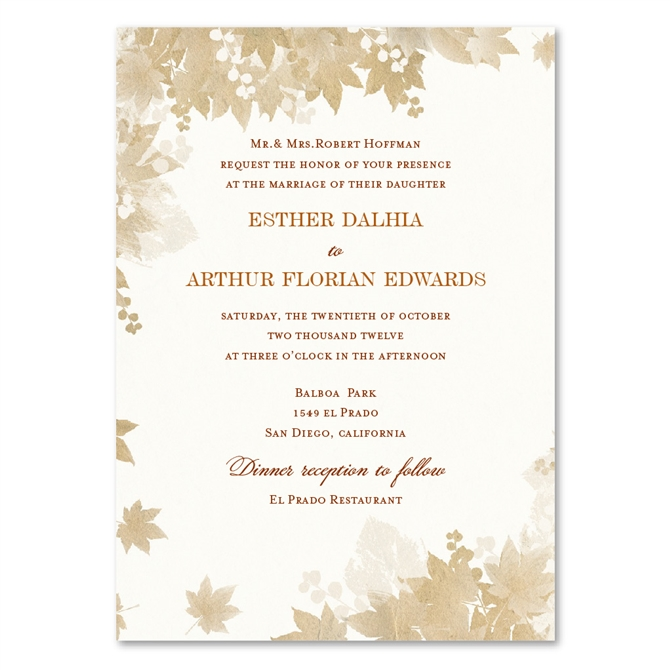 Vintage Fall Wedding Invitations By Foreverfiances On 100 Recycled Paper