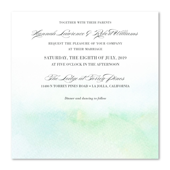 Beach Wedding Invitations On Watercolor 100 Recycled Paper West Shores