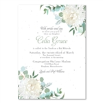 Dahlia Bat Mitzvah Invitations | White Dahlia (seeded)