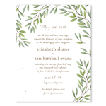 California wild coast wedding invitations on seeded paper