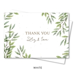 Big Sur Wedding Thank You Cards | Wild Coast (Fern Green, White)