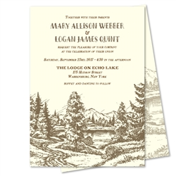 Vintage Rustic Wedding Invitations | Wilderness