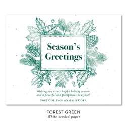 Winter Crown business holiday cards on seeded paper by Green Business Print