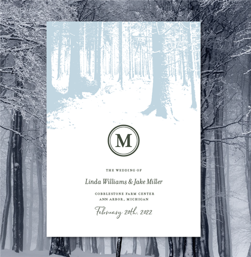 Winter Forest Wedding Programs (recycled)