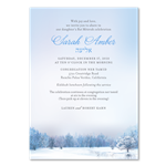 Winter wonderland Bat Mitzvah Invitations (non-plantable recycled)