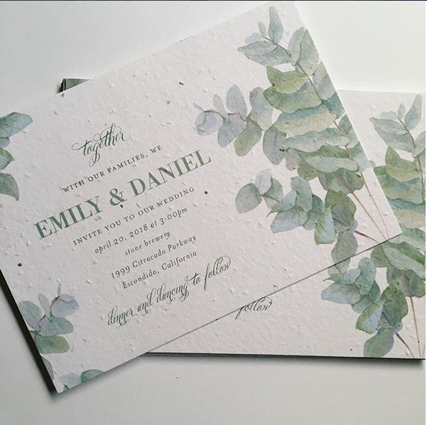 Custom Printing On Seeded Paper for Wedding Party Invitations We