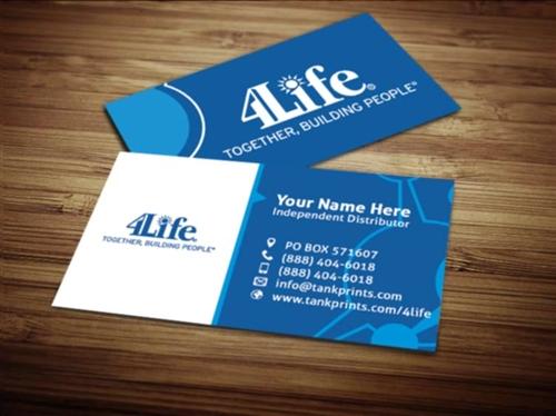 4life business card design 1