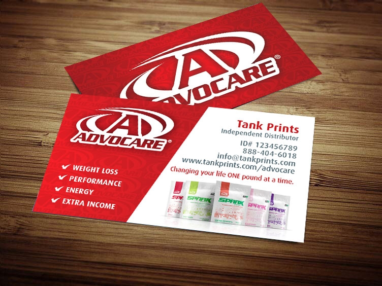 1 Source For Advocare Business Cards Tank Prints