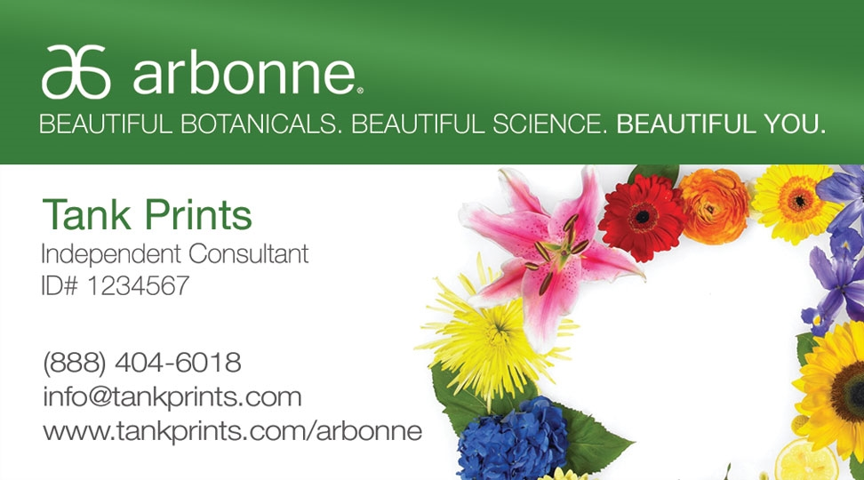 Arbonne Business Card Design 2