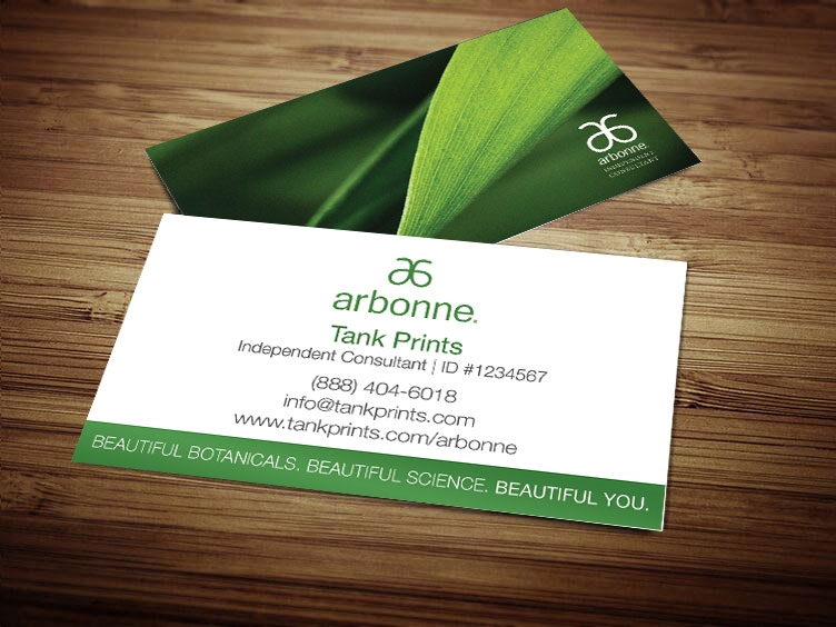Arbonne business card design 3 modified for Vistaprint business card prices