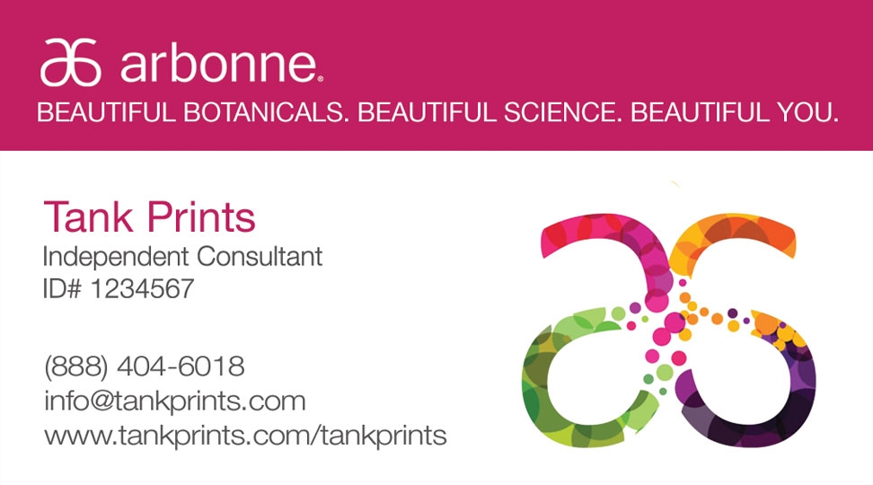 Arbonne business card design 5 accmission Gallery