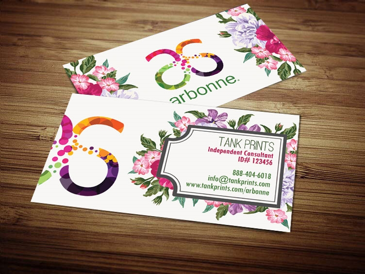 arbonne business cards template