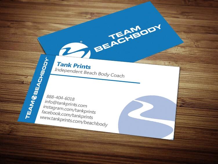 Team Beach Body Business Card Design 2