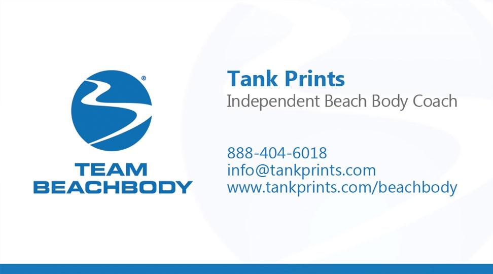 Team Beach Body Business Card Design 3