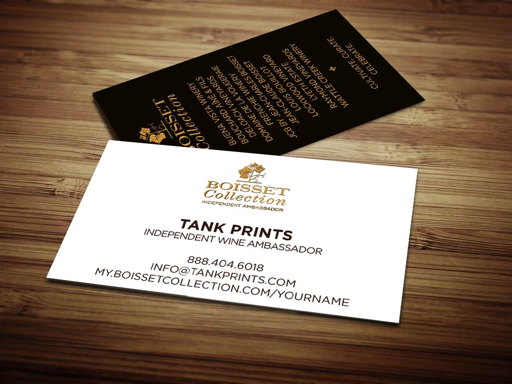 Boisset collection business cards tank prints 2 reviews reheart Image collections