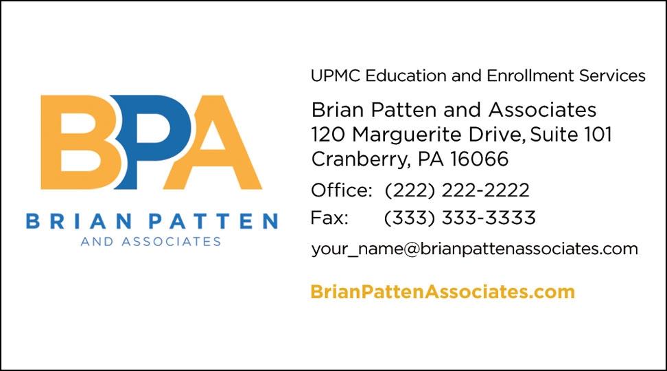 Brian Patten Business Card Design 2