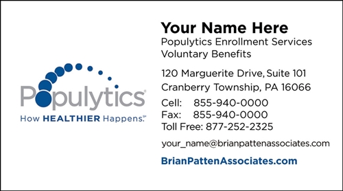 Populytics Enrollment Card