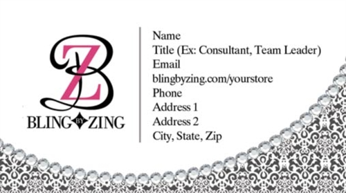 Bling by zing business card templates tank prints our colourmoves
