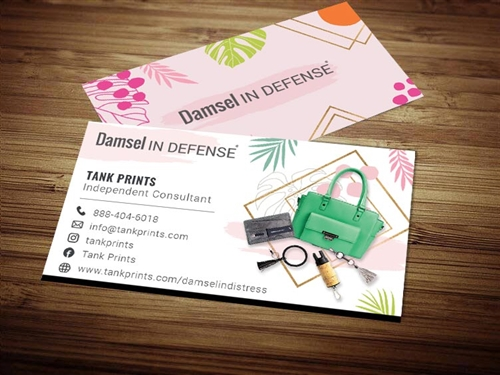 damsel in defense business cards 1