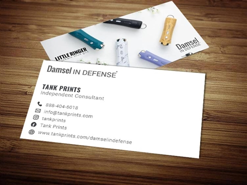 damsel in defense business cards 3