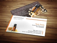 doTERRA Business Cards, Custom Doterra Business Card, Modern Business Card, Essential Oil, doterra frankincense oil