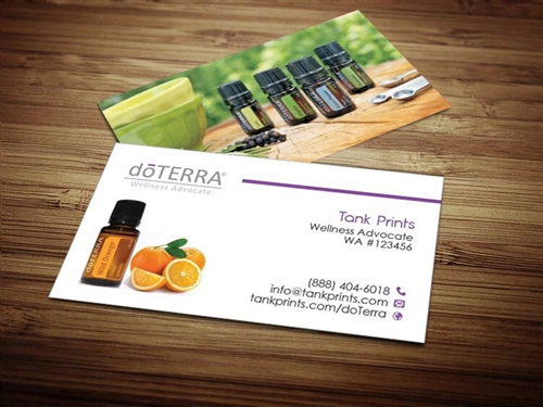 doTERRA business cards 6, wild orange doterra business card