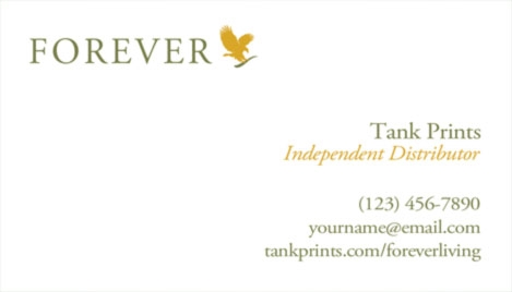 Forever Living Business Card Design Tank Prints - Business card template uk