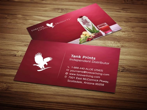 berry nectar forever living business cards