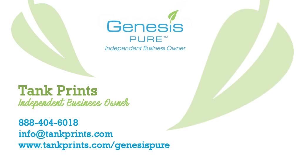 Genesis Pure Business Cards   Tank Prints