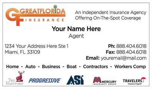 Great florida insurance business card design 1 colourmoves