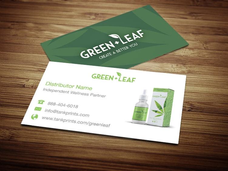 Green leaf business card design 1 colourmoves