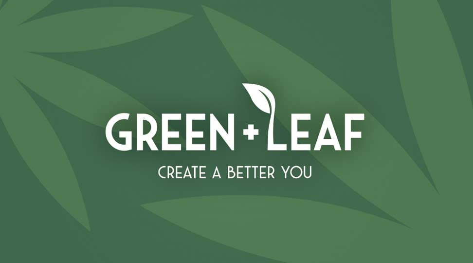 Green + Leaf Business Card Design 1