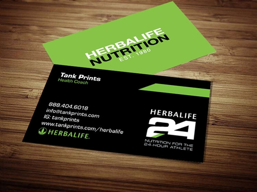 Herbalife 24 business cards 2 Custom