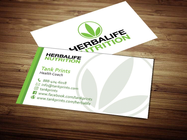 Herbalife Business Card Design 6 Tank Prints