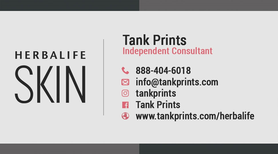 HerbalifeSkin Business Card Design 3 - Tank Prints