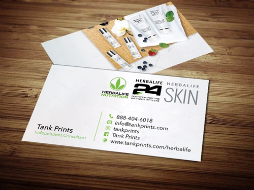 herbalife skin business cards 4