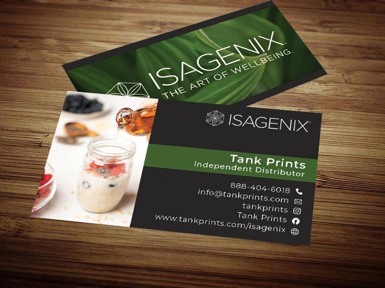 Isagenix business card design 1 colourmoves