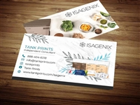 Isagenix business card template 2