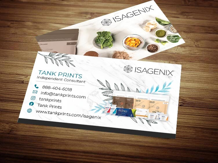 Isagenix business card design 2 colourmoves