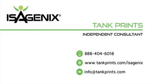 Isagenix business card design 5 colourmoves