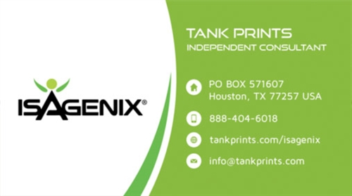 Isagenix business card design 7 reheart Images