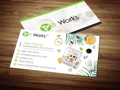 itworks business card template 1