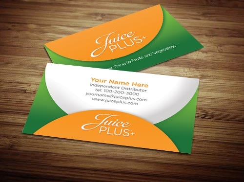 Juice plus business card design 1 colourmoves