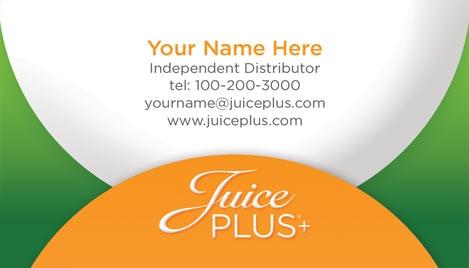 Juice Plus Business Card Design 1