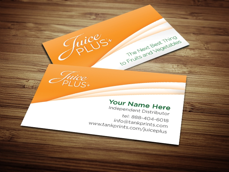 Juice plus business card design 3 colourmoves