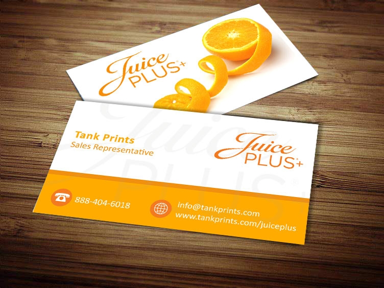 Juice plus business card design 4 for Business card designer plus