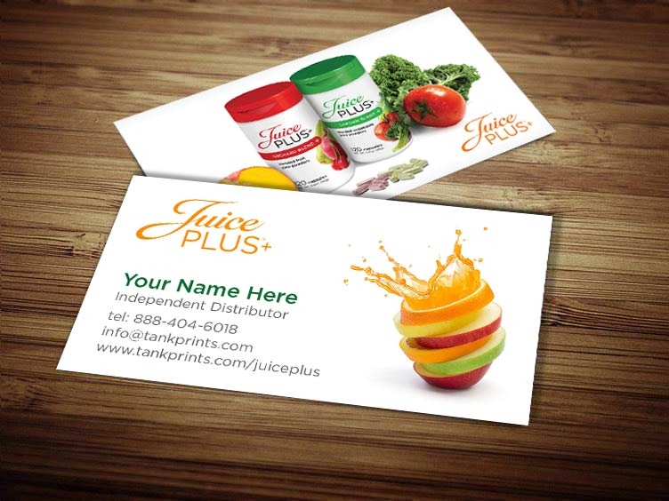 Juice plus business card design 6 colourmoves
