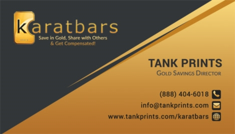 Karatbars business cards tank prints 9 reviews wajeb Image collections